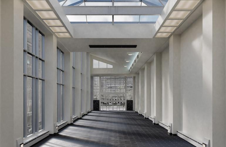 Hall d'accueil de la maison OACI