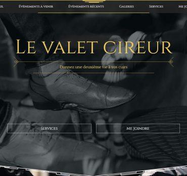 Capture d'écran du site Web du Valet Cireur.